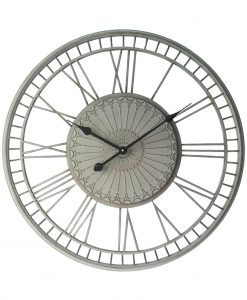 Country Lace Large Roman Numeral Wall Clock kitchen