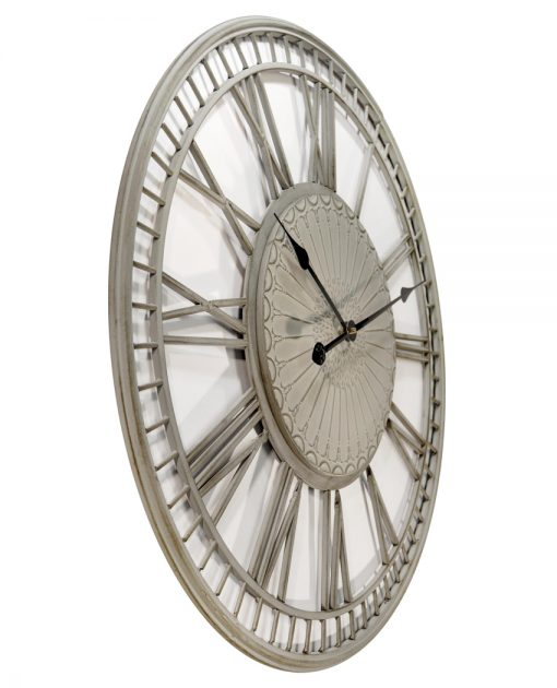 from right side country lace grey wall clock 27 inch large
