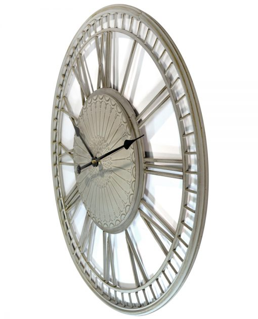 from left side country lace wall clock