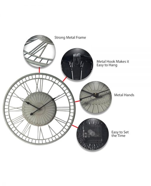 features of country lace wall clock