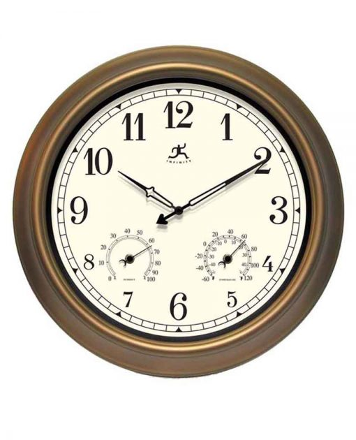 The Craftsman Clock wall clock indoor outdoor temperature humidity