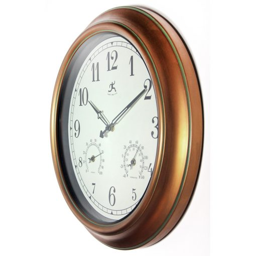 from left side craftsman gold steel wall clock 18 inch