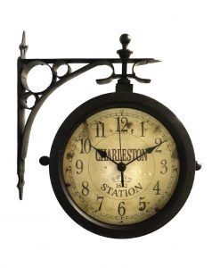 Charleston Indoor/Outdoor Side Mounted Clock kitchen