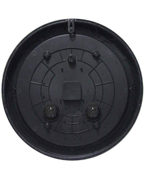 back of inca brown slate wall clock 18 inch