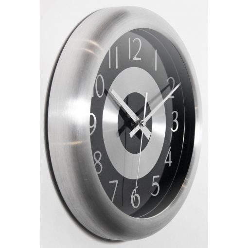 from right side mercury black and silver steel wall clock office modern 10 inch