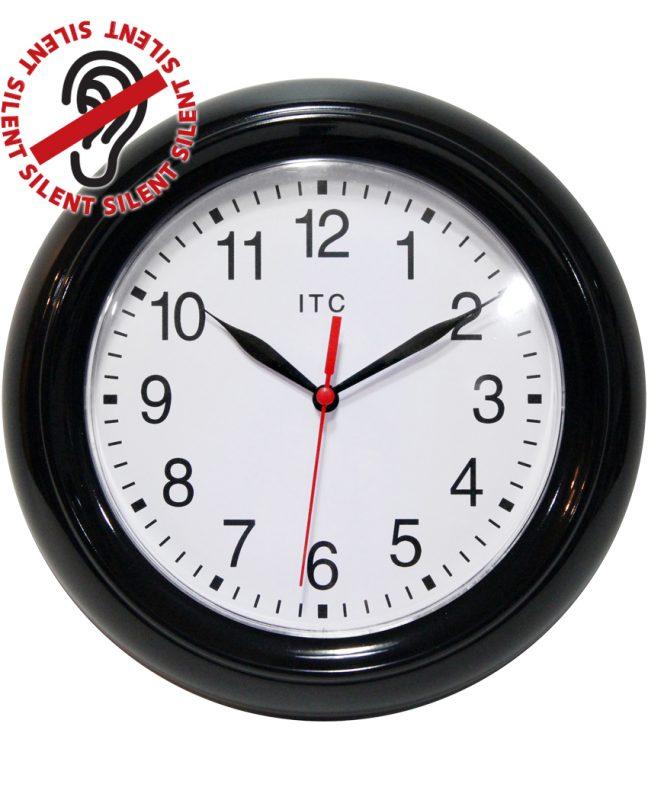 8.75 inch Focus Black Resin Wall Clock
