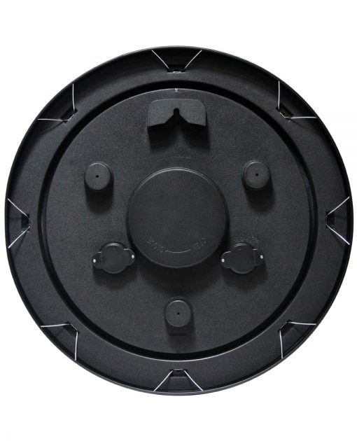 back of garden black steel wall clock 18 inch