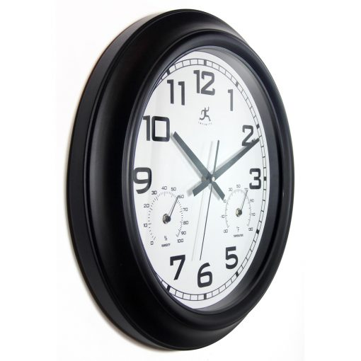 from right side garden black steel wall clock 18 inch