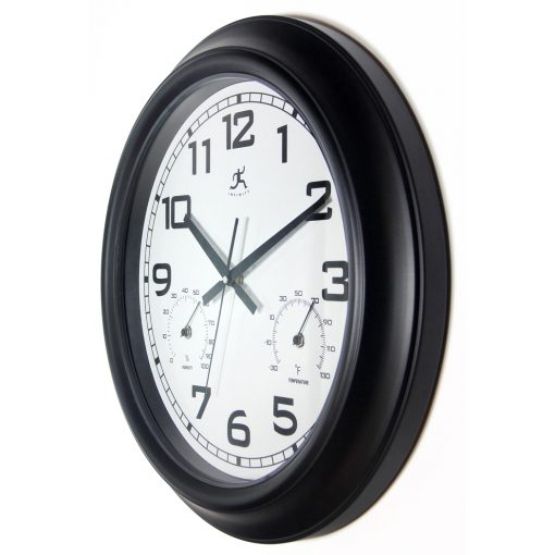 from left side garden wall clock black 18 inch