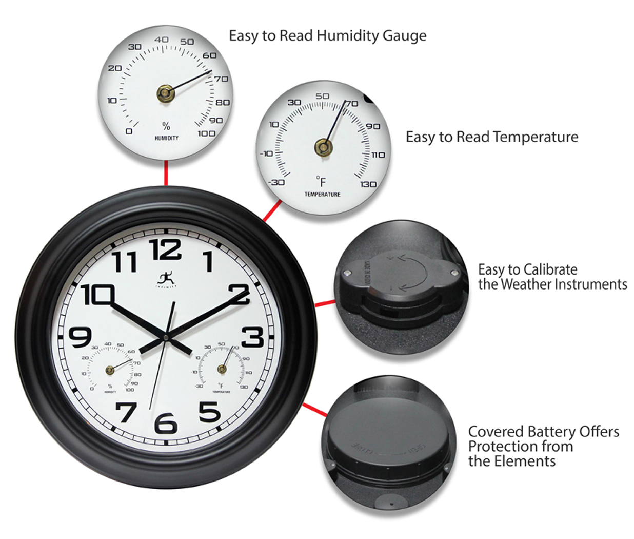 18 Inch Garden A Black Steel Wall Clock Clock By Room