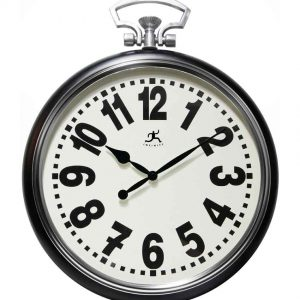 25 inch Broadway; Black Steel Wall Clock