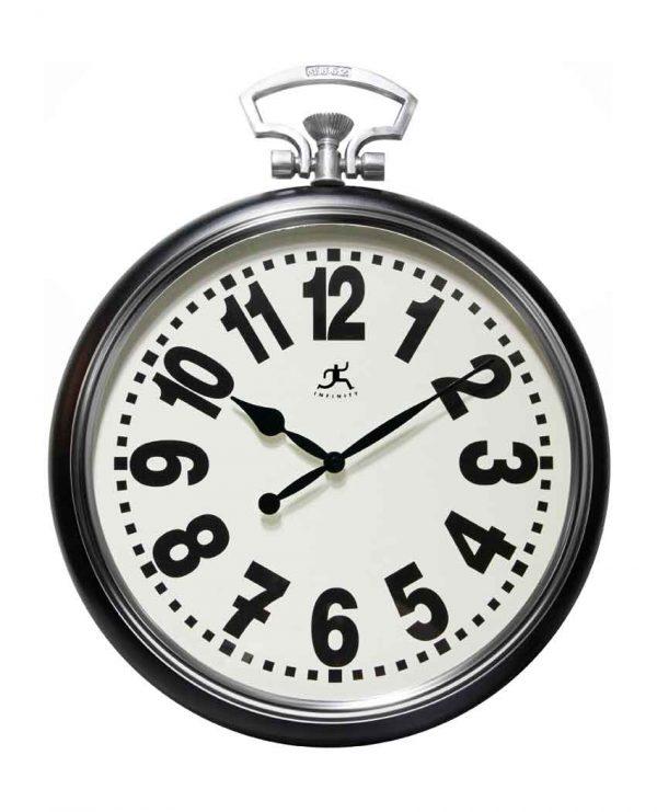 25 inch Broadway; Black Steel Wall Clock