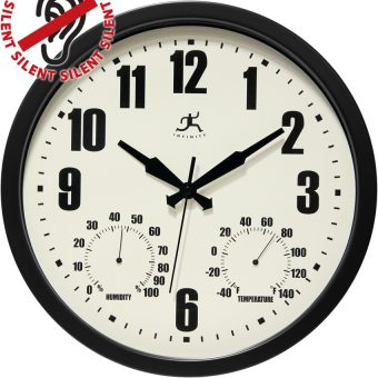 Patio Black All Weather Clock