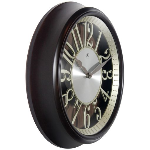 from right side leeds walnut brown resin wall clock 15 inch
