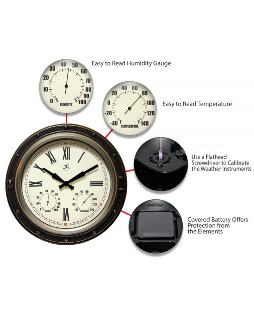 features of the forecaster wall clock