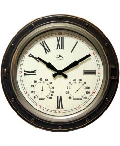 Forecaster Outdoor Clock with thermometer