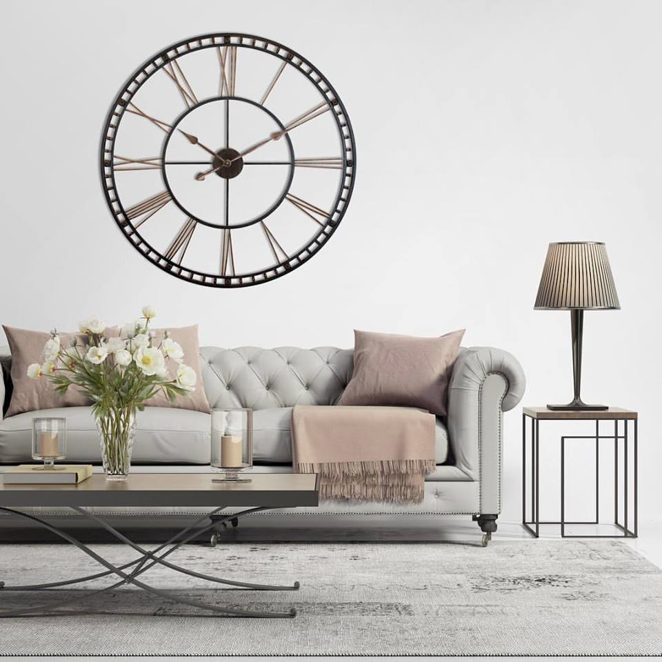 environmental wall clock in living room