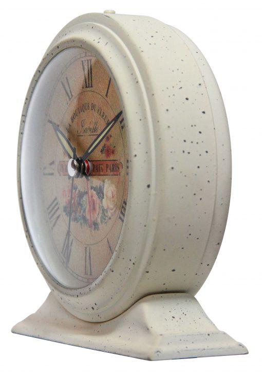 left side of tabletop clock