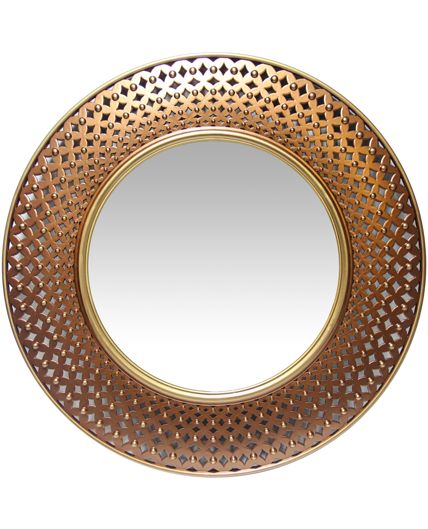 16-inch Bolly; Bohemian Copper Wall Mirror