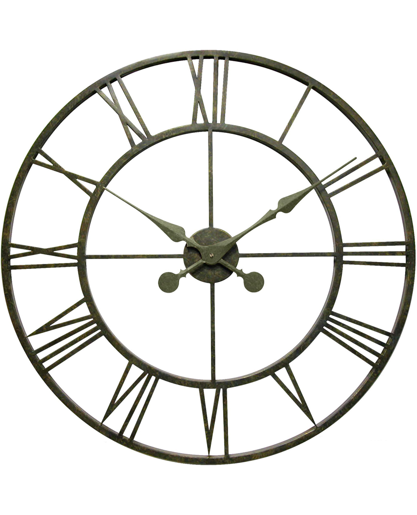 infinity instruments the iron tower oversized wall clock