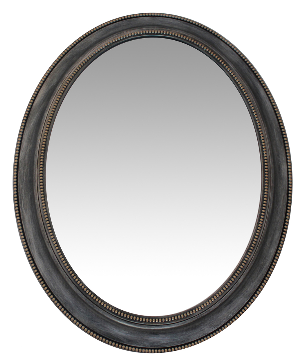 30 inch sonore antique silver oval wall mirror