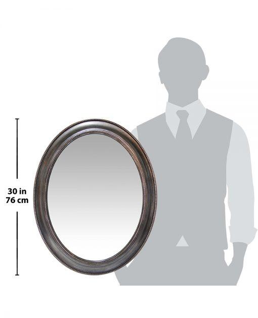 sonore silver oval wall mirror decor