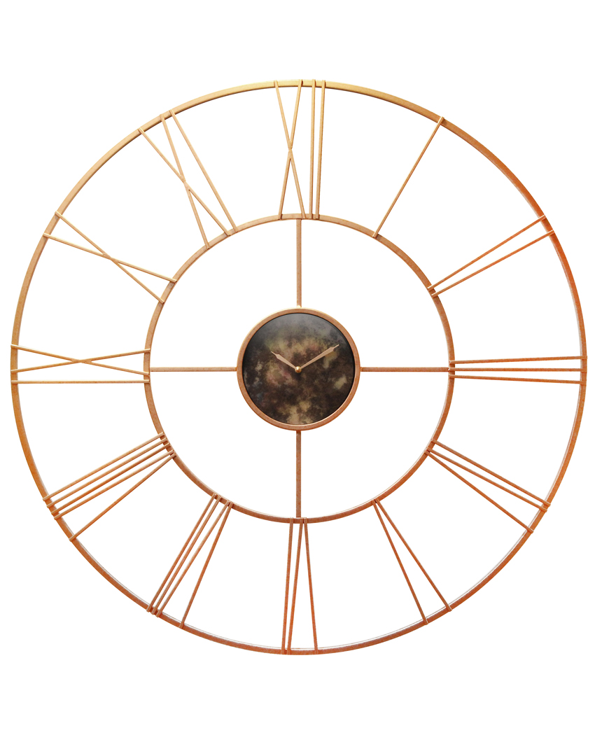 45 25 Inch Pearle D Or Rose Gold Steel Wall Clock Clock