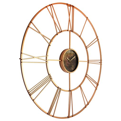 from right side rose gold steel wall clock 45 inch extra large oversized