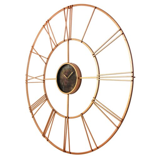 from left modern tower rose gold steel wall clock