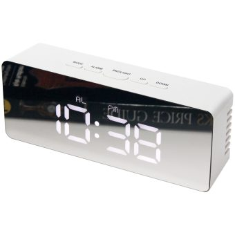 2.25 inch Le Petit R; a White Tabletop Alarm Clock