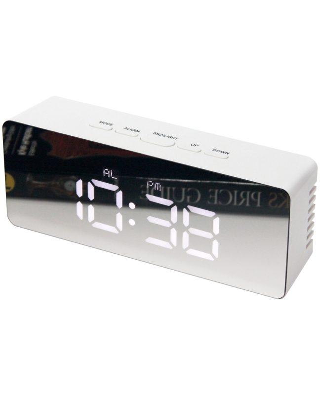 2.25 inch Le Petit R; a White Tabletop Alarm Clock