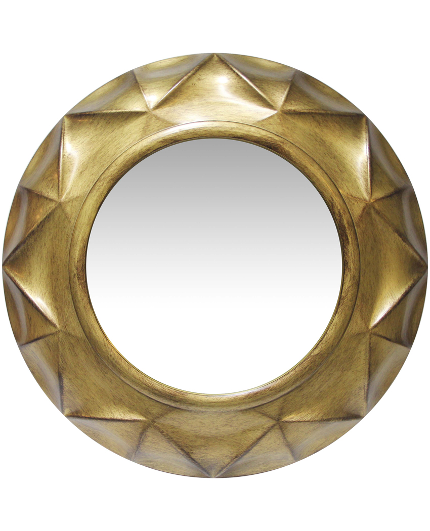 Vigil Gold Round Circular Golden Finish Large Decorative Wall Mirror 20 Inch 731742153838 Ebay