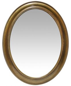 oval sonore gold antique wall mirror 30 inch