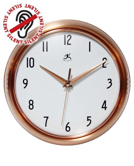 Round Copper Retro Wall Clock kitchen