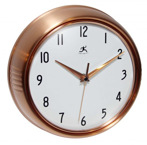 from right side retro copper wall clock 9 inch