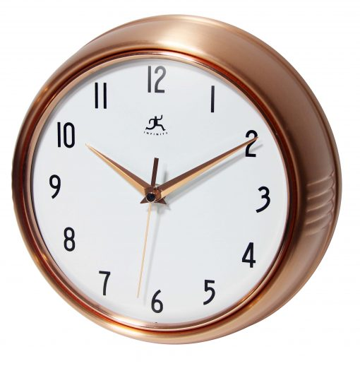 from left side of copper retro wall clock