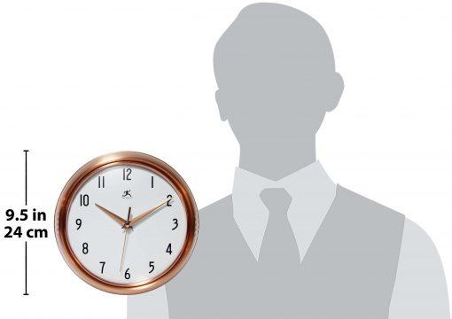 for scale copper wall clock retro