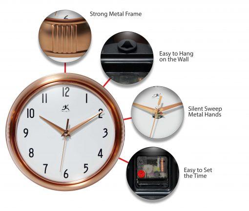 features of copper clock retro wall clock kitchen