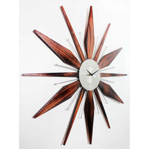 from right side mid century modern clock
