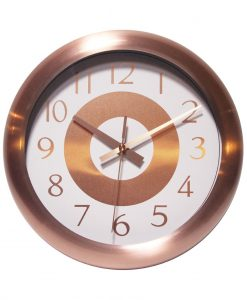Round Copper Wall Clock kitchen