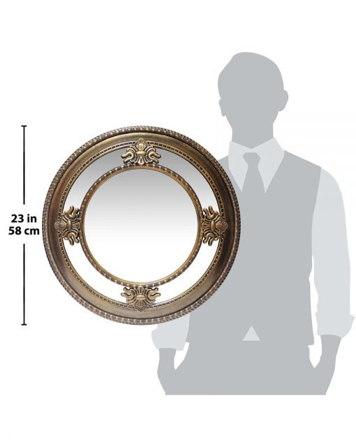 for scale versailles gold round wall mirror 23 inch
