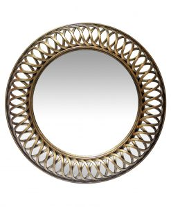 15455AG gold round wall mirror 22 inch