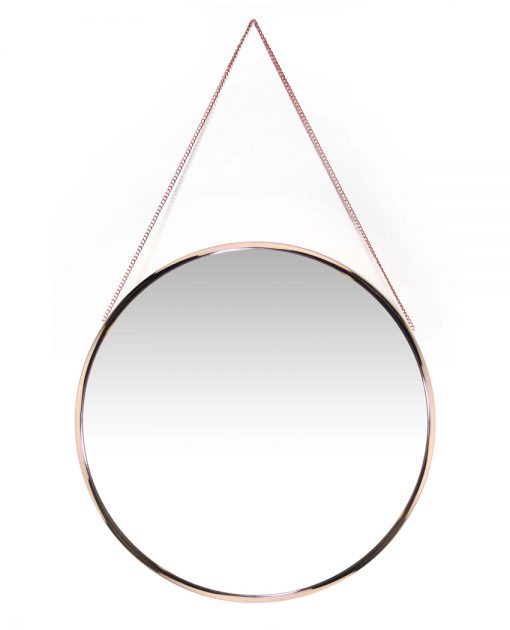 15462RG front of franc rose gold wall mirror