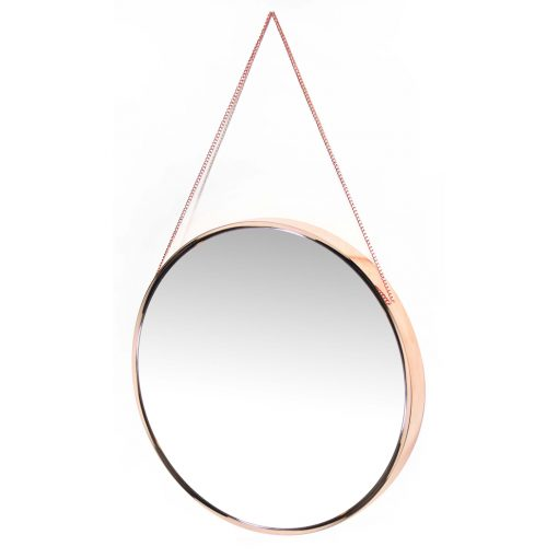 from left side franc rose gold wall mirror