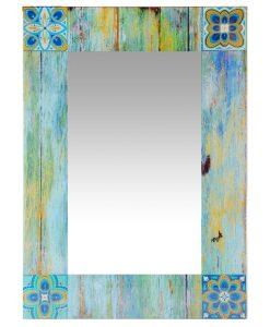 country mosaic wall mirror shabby chic