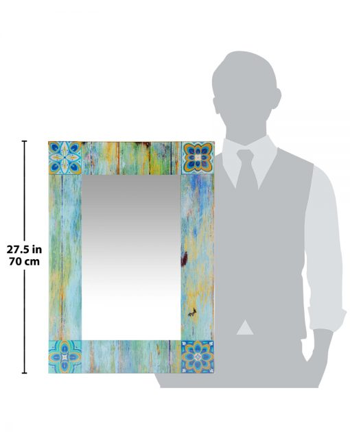 country mosaic for scale decorative wall mirror
