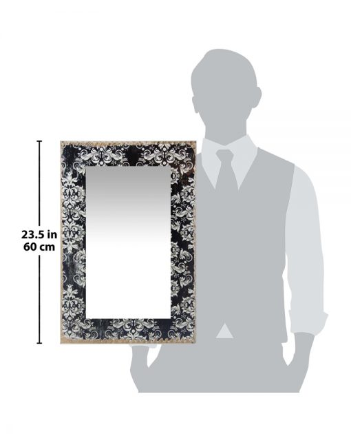 for scale damask wall mirror