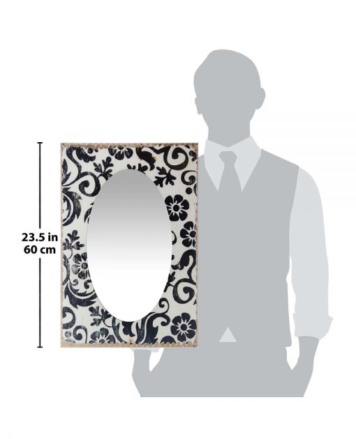 for scale decorative wall mirror floral