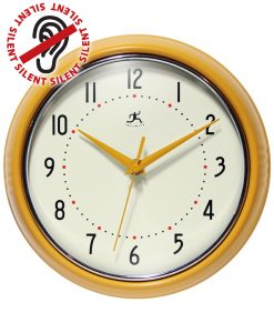 Saffron Yellow Aluminum Wall Clock