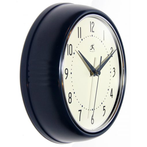 Blue Aluminum Wall Clock